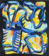 Ubekendt kunstner. Komposition. akryl på lærred.
