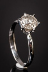 14 kt. gold ring, brilliant-cut diamond, 1.80 ct.