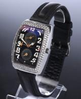 Dubey & Schaldenbrand 'Aerodyn Due GMT. Unisex watch, steel with diamonds