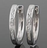 Diamond earrings in 18kt gold approx. 1.00ct (2)