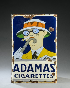 Adamas Cigarettes adamas cigarettes', emaljeskilt, af ny dato | lauritz