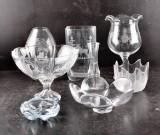 Parti glasföremål. Books, Kosta, Rosenthal, Orrefors (8)