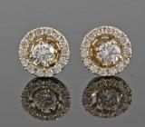 Earrings in 14k set with brilliant cut diamonds 0.80ct