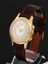 Jaeger-leCoultre 'Memovox'. Vintage men's watch, 18 kt. gold with alarm function, c. 1960
