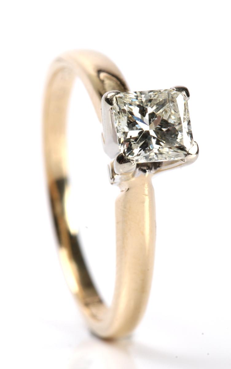 Diamantring guld til salg