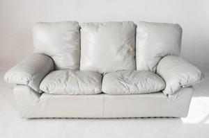 2 sitzer sofa grauer lederbezug f r brunati italia. Black Bedroom Furniture Sets. Home Design Ideas