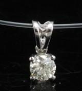 Pendant with a brilliant cut diamond 0.30ct.