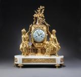 A large Napoleon III mantle clock, Raingo Freres, Paris, 19th century-second half