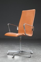 Arne Jacobsen. Oxford armchair, cognac-coloured leather, from 2011