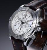 Breitling 'Chronomat Evolution'. Herrenchronograph aus Stahl mit silberfarbenem Zifferblatt, 2000er Jahre