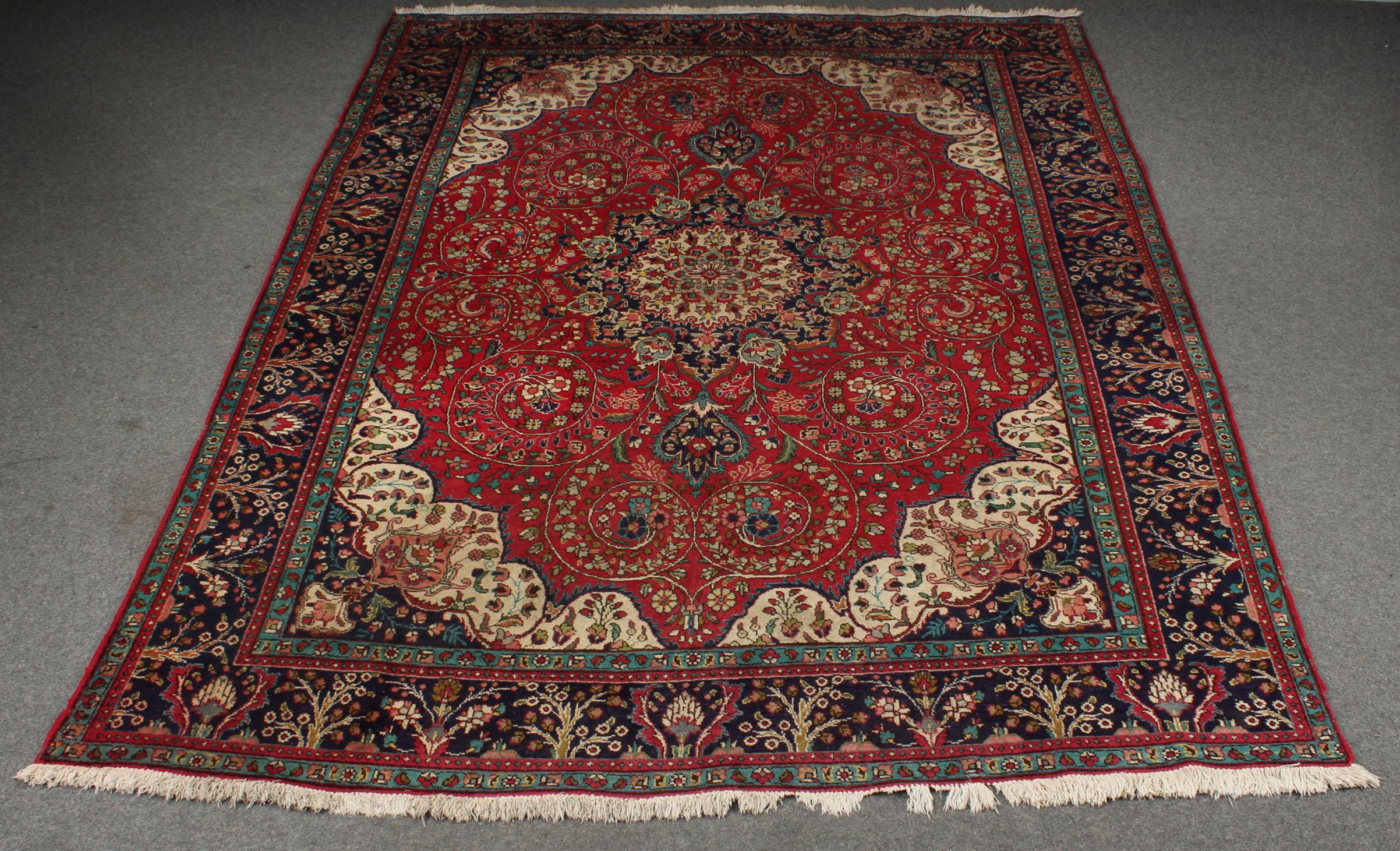 Persisk Tabriz. 400 x 300 cm. Varenr: 2201465 - Persisk Tabriz. 400 x 300 cm. Fremstår med lettere slitage
