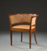 Kaare Klint. 'Faaborgstolen', mahogany and Niger leather