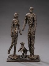 Ubekendt kunstner, bronce skulptur. Sign. B.S