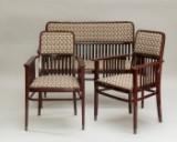 Jacob & Josef Kohn, bænk og 2 lænestole (3)