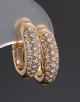 Cartier. Diamond earrings, approx. 0.96 ct