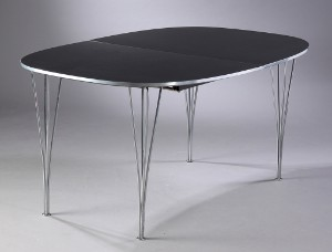 piet hein bord super elipse Piet Hein & Bruno Mathsson. Super Ellipse table, black high gloss  piet hein bord super elipse