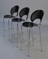 Nanna Ditzel. Tre barstole. 'Trinidad', model 3300. (3)