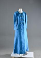 Vintage klänning/kappa i thaisiden, 1960-tal