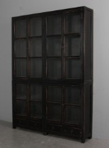 Display cabinet, black antique paint finish