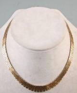 Klassisk Murstens collier af 14 kt. guld