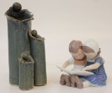 Vas samt figurin, Mogens Kræmer samt Bing & Grøndahl (2)