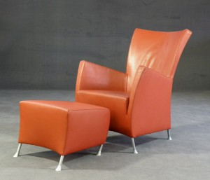 m bel gijs papavoine sessel 39 windy 39 mit ottomane ausf hrung montis holland 2. Black Bedroom Furniture Sets. Home Design Ideas