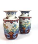 Paar chinesische Vasen mit Imaridekor (2)