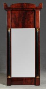 Biedermeier Spiegel aus Mahagoni, schwedisch