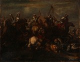 Attributed to Georg Philipp I Rugendas, Battle of Zenta, 11 September 1697, between the Ottoman and the Habsburg Empire
