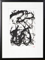 Mona Askær, tusch på papir, komposition