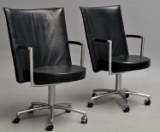 Johannes Foersom & Peter Hjort-Lorentzen. Pair of Partner Lounge chairs, model EJ-70 (2)