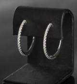 Brilliant-cut earrings approx. 0.63 ct. (2)