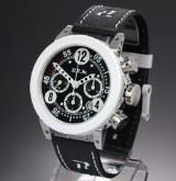 B.R.M 'Chronograph'. Over-size men's watch, steel, automatic movement