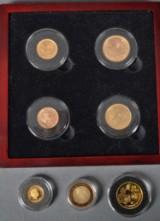 Samling guld mønter DK. og udland ialt 7. (7)