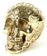Robbi Jones: 'Skull' /kranium i poleret messing.