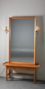Spegelmöbel, 1950-tal, teak. (2)