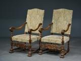 Par armstole / 'kongestole' af bøg, 1900-tallet (2)