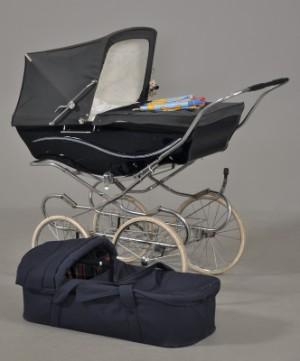 Silver Cross - barnevogn med bærelift(andet mrk), puder etc. | Lauritz.com