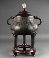 Chinese incense burner, bronze, Ming or Qing