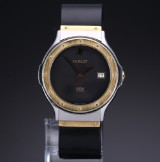 Hublot 'MDM Classic'. Men's watch, 18 kt. gold and steel with date, 1990s