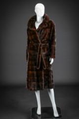 Mink coat, size 38-40. Labelled Kirsten Nickelsen Aarhus