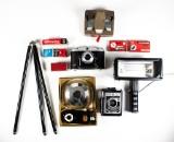 Två kameror samt diverse tillbehör