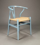 Hans J. Wegner for Carl Hansen & Søn. Stol model CH-24, Steel blue