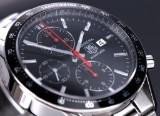 Tag Heuer 'Carrera Juan Manuel Fangio'. Men's chronograph, steel with black dial, c. 2014