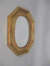 Ovaler Spiegel mit feinem Blattranken-Dekor