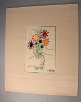 Pablo Picasso, limitierter Künstler Teppich 'Le Bouquet' von Desso