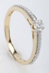 Brillantring fra FHP DeLuxe, 14 kt guld, ca. 0.31 ct.