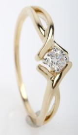 Diamantring fra FHP, 14 kt guld, 0.16 ct.