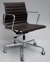 Charles Eames. Office chair, leather, model EA-117