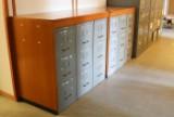 Par arkivskabe, metal og teak, dansk møbelproducent (2)